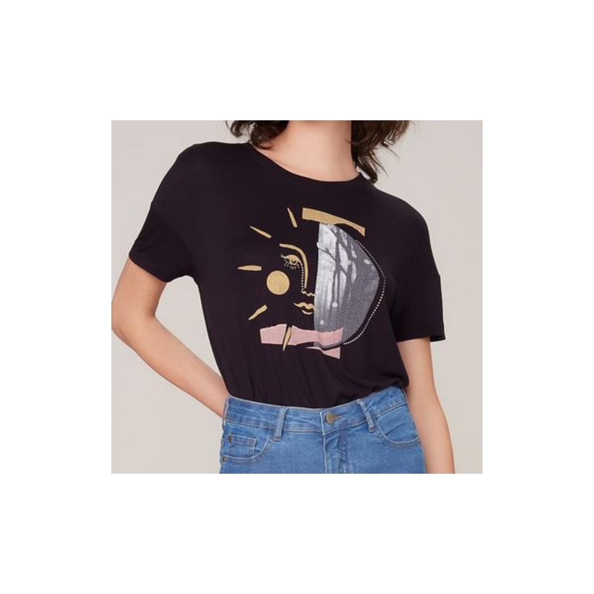 Camiseta Feminina Dzarm 6rzy N10en Preto
