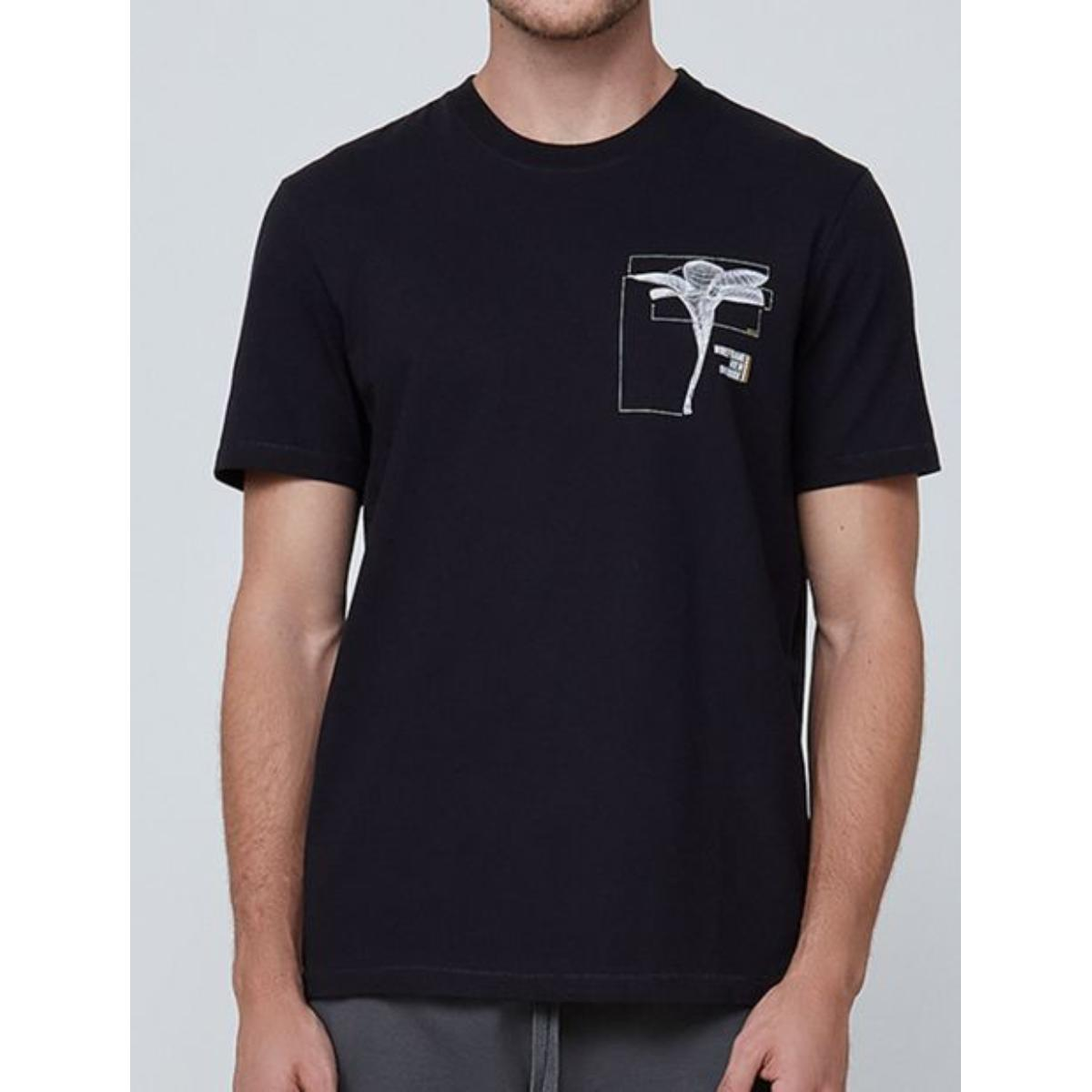 Camiseta Masculina Dzarm 6rn5 1een Preto