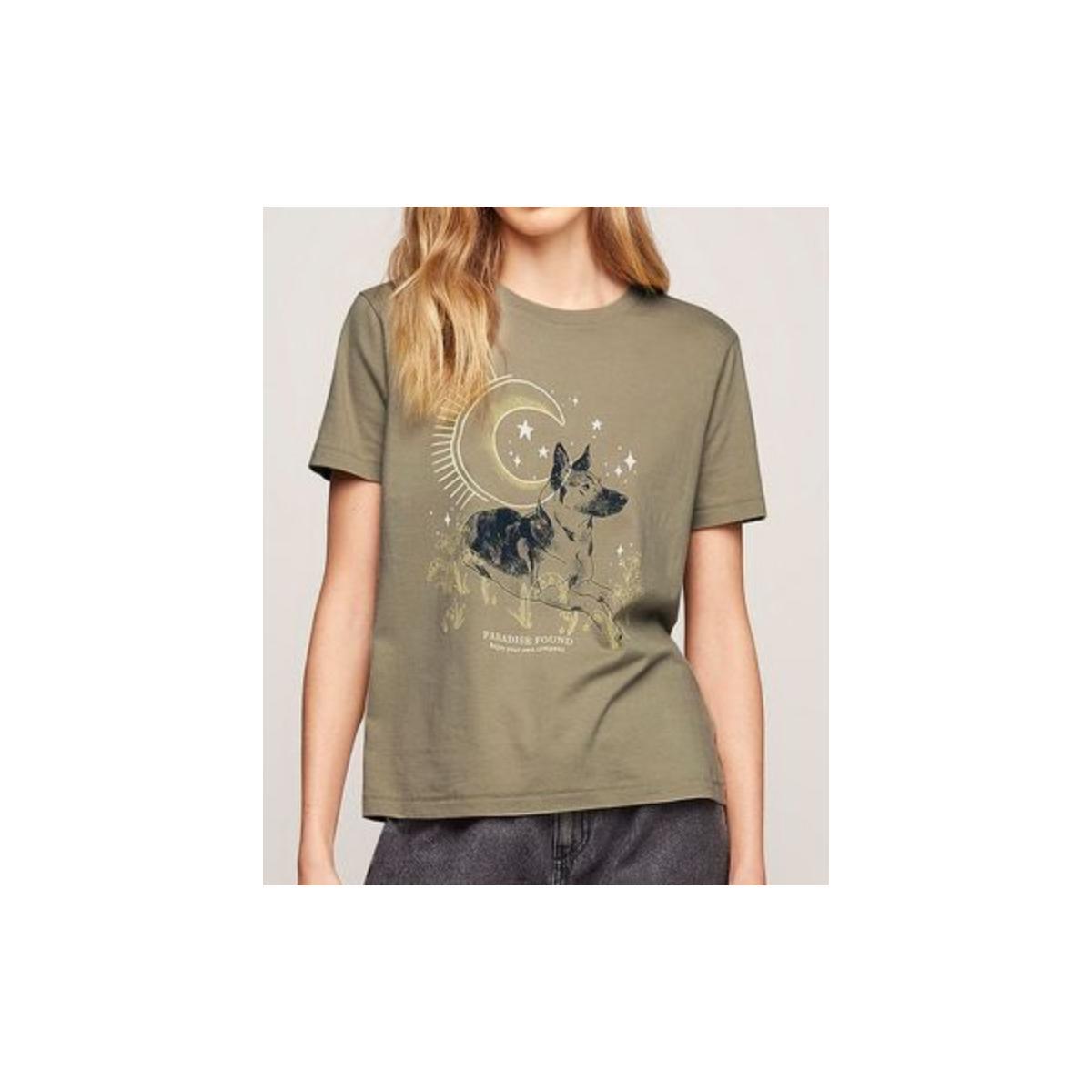 Camiseta Feminina Dzarm 6rzw Eamen Verde