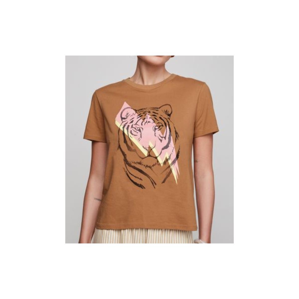Camiseta Feminina Dzarm 6rzw Hmaen Camel