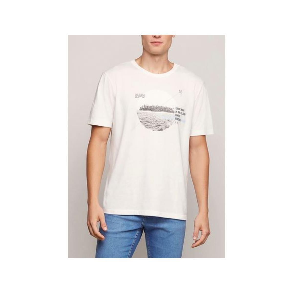 Camiseta Masculina Dzarm 6rlz 1fen  Branco