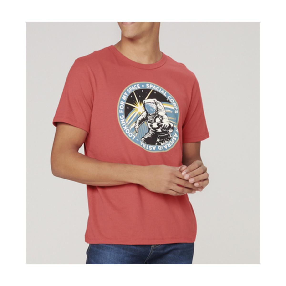 Camiseta Masculina Dzarm 6r7n Rwuen Vermelho