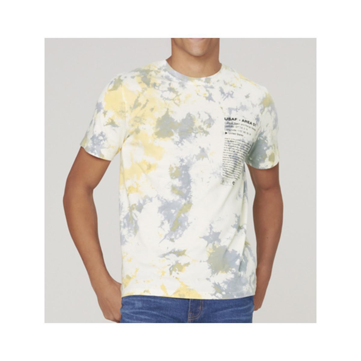 Camiseta Masculina Dzarm 6r8c 1aen Off White Color