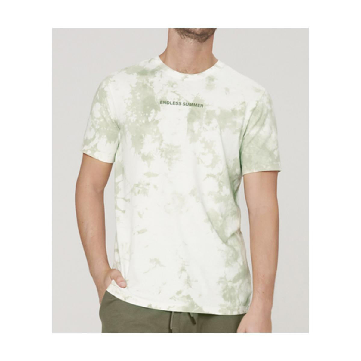 Camiseta Masculina Dzarm 6r8c 1ben Verde/off White