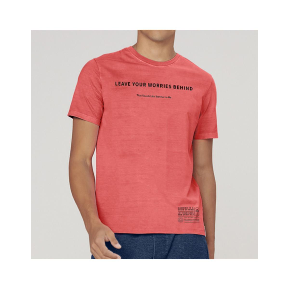 Camiseta Masculina Dzarm 6r8e 1cen Coral