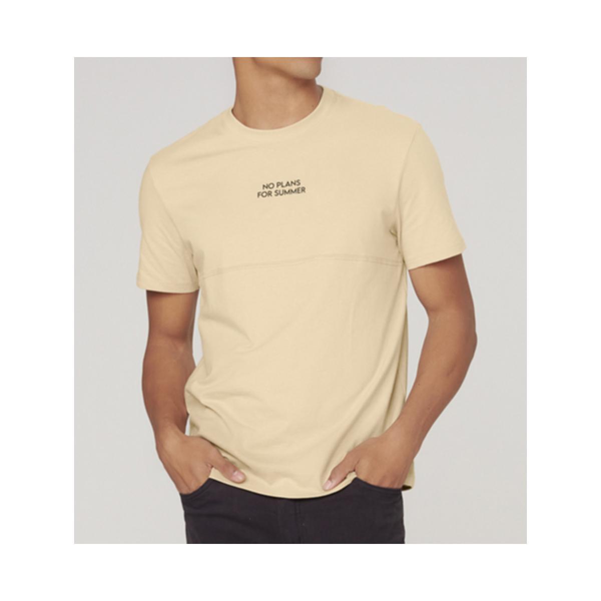 Camiseta Masculina Dzarm 6raz Hlken Bege