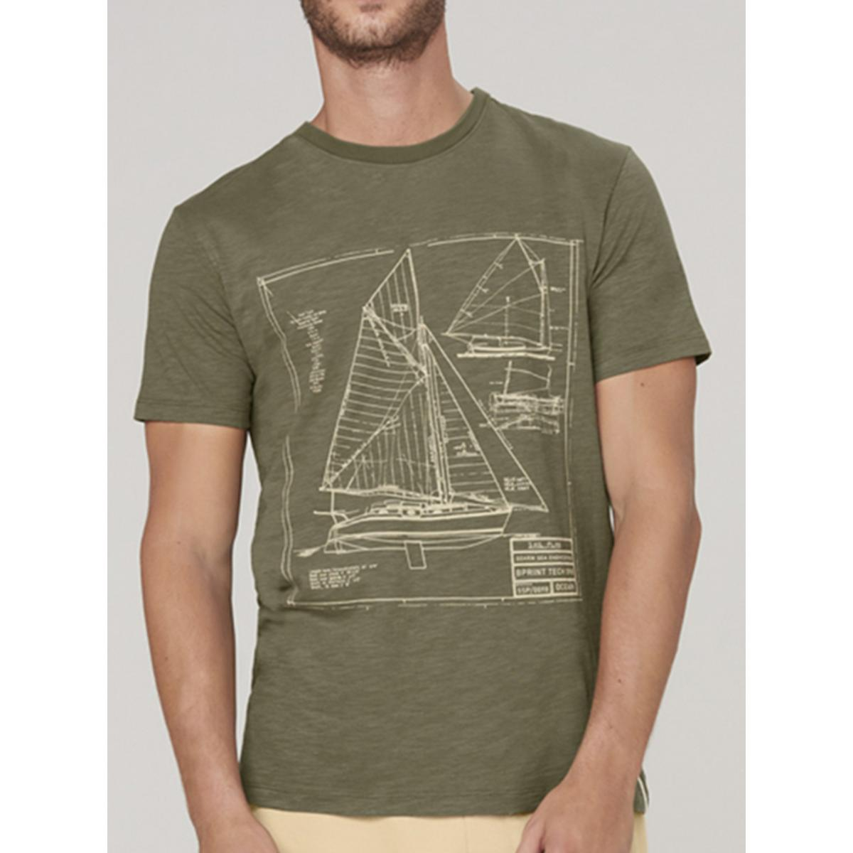 Camiseta Masculina Dzarm 6r7m Eacen Verde Militar