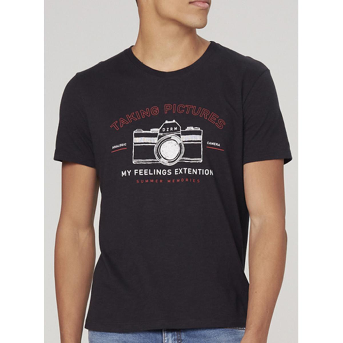 Camiseta Masculina Dzarm 6r7m N10en Preto