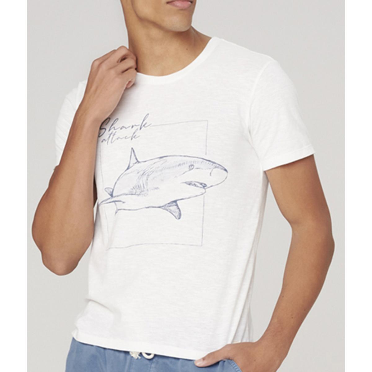 Camiseta Masculina Dzarm 6r7m Nmcen Off White