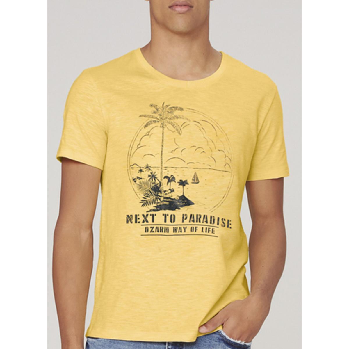 Camiseta Masculina Dzarm 6r7m Yrben Amarelo