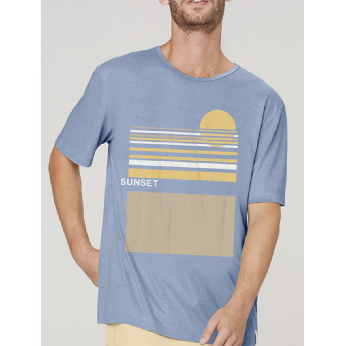Camiseta Masculina Dzarm 6r8b Az3en Azul