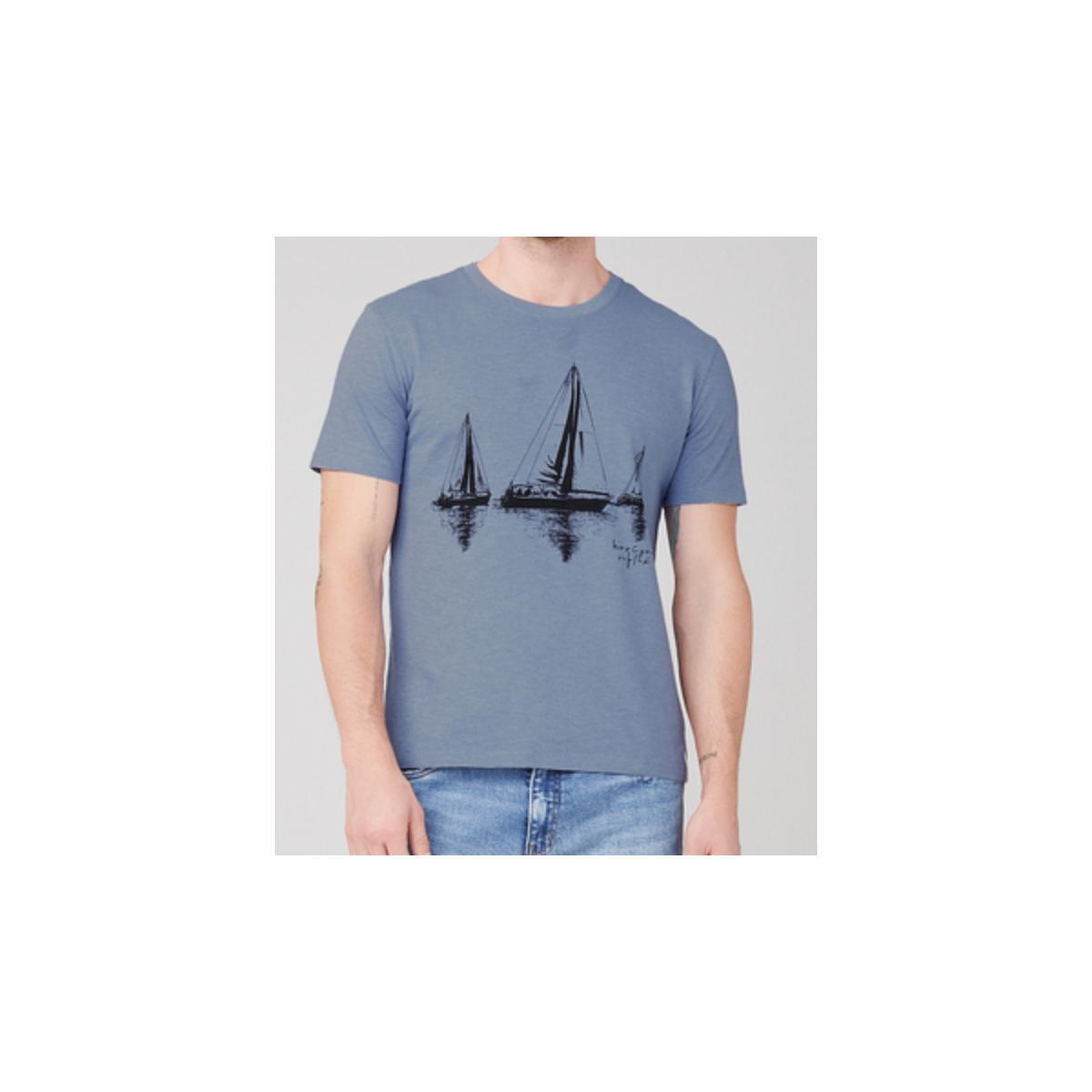 Camiseta Masculina Dzarm 6r7m  Az3en Azul