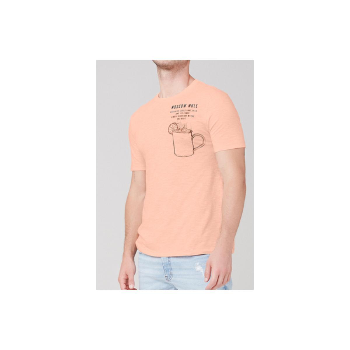 Camiseta Masculina Dzarm 6r7m Ldlen Pêssego