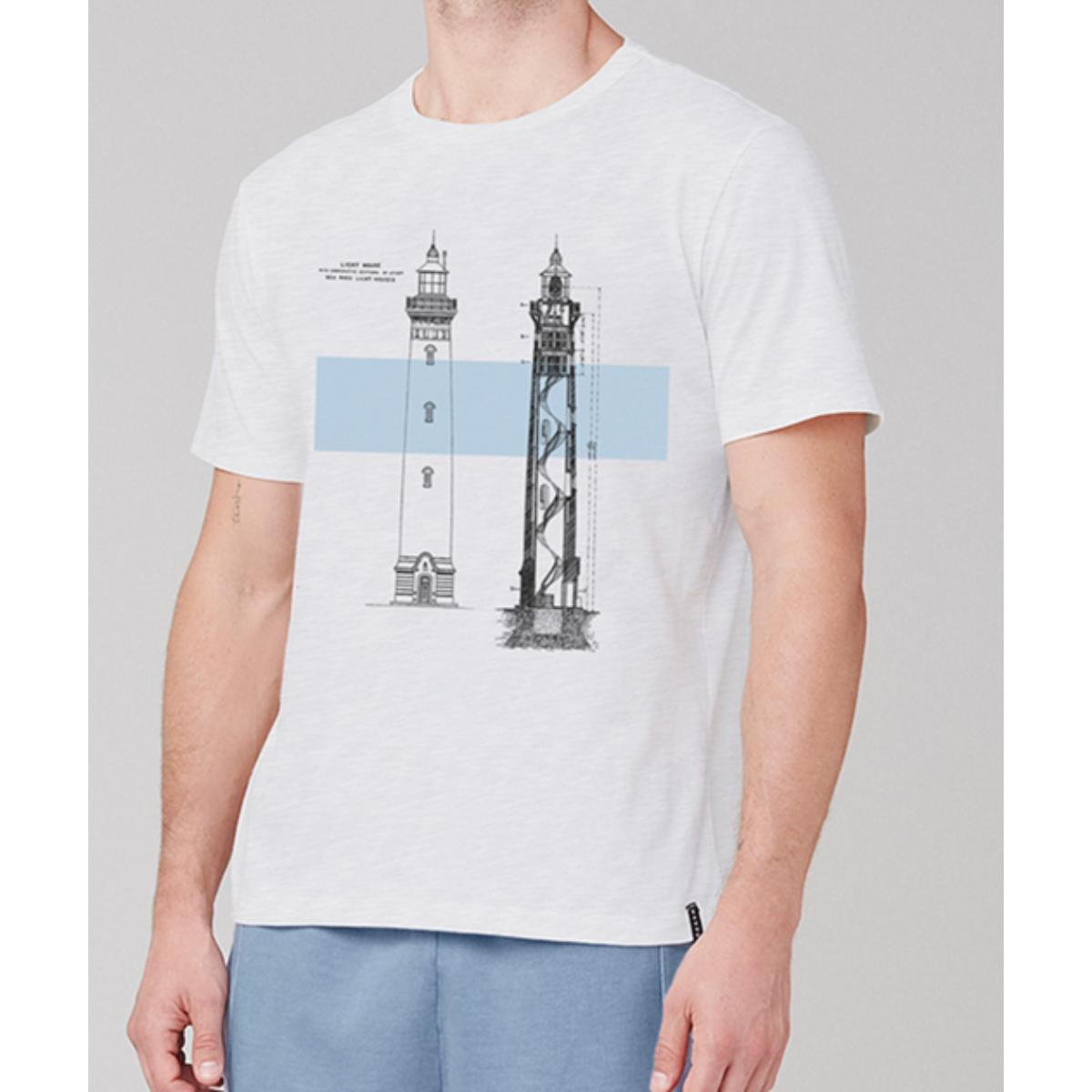 Camiseta Masculina Dzarm 6r7m N0aen Branco