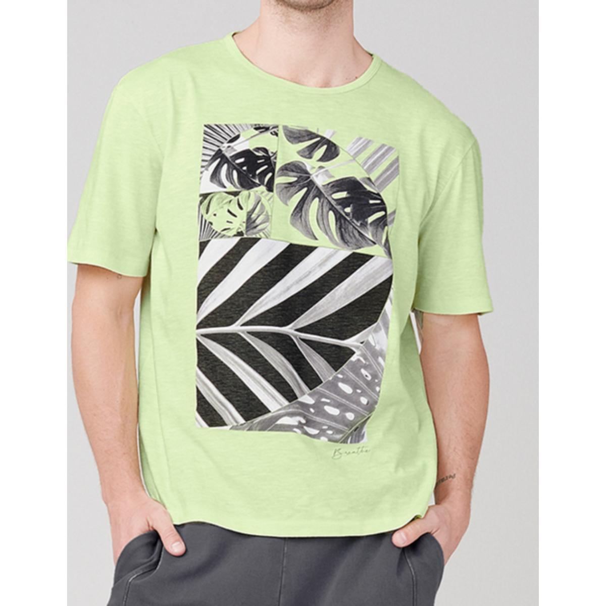 Camiseta Masculina Dzarm 6r8b Wb8en Verde Claro