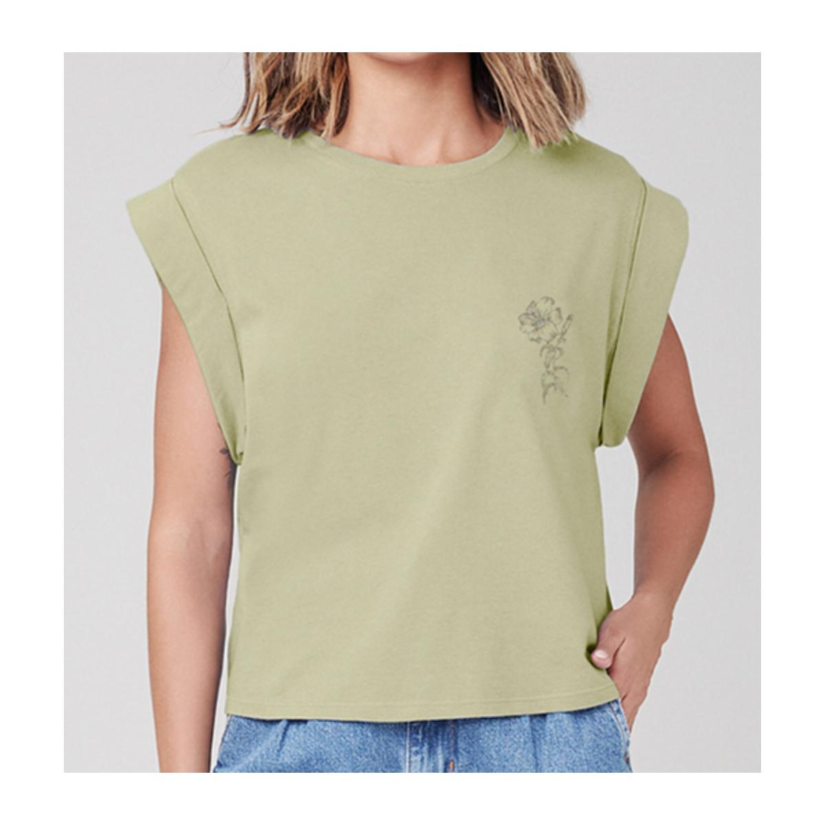Camiseta Feminina Dzarm 6rte Wg6en Verde