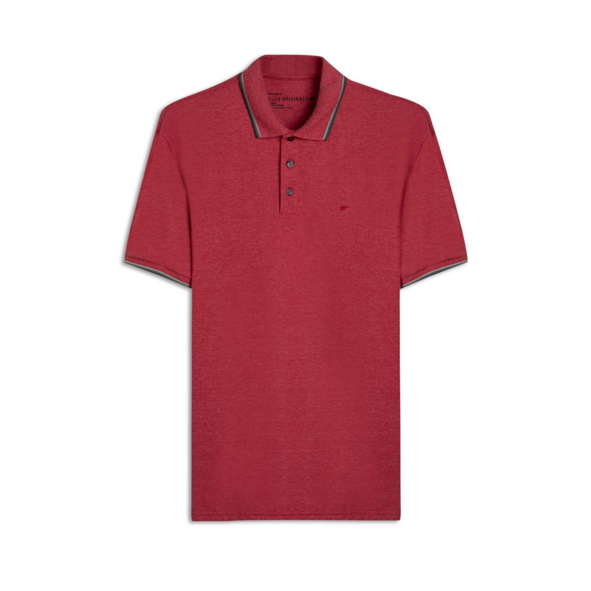 Camiseta Masculina Ellus B672a  401 Vermelho