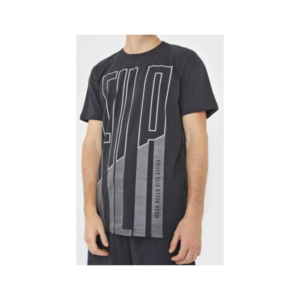 Camiseta Masculina Fila Ls180793.160 Lia Preto