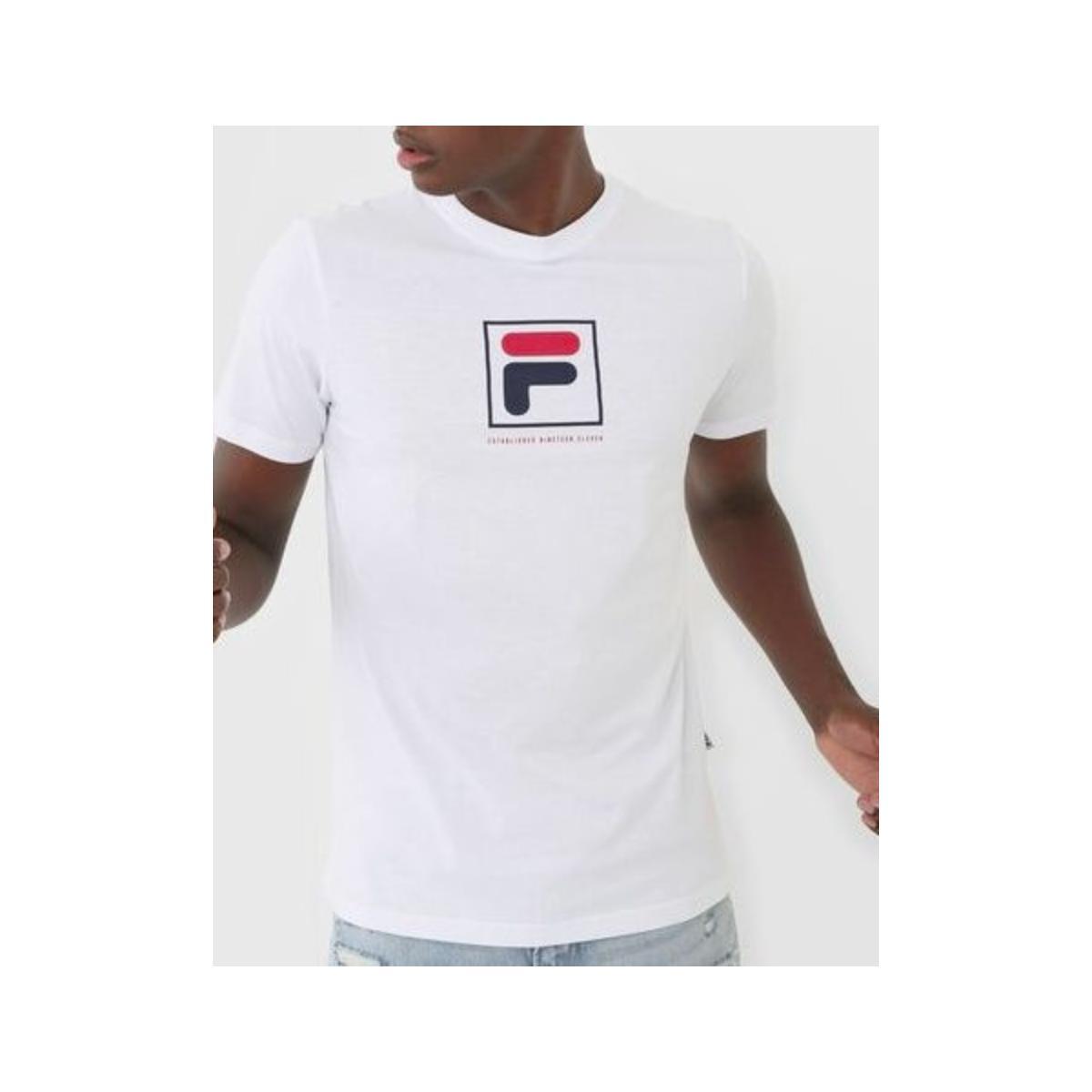Camiseta Masculina Fila F11l518147.100 Established Branco