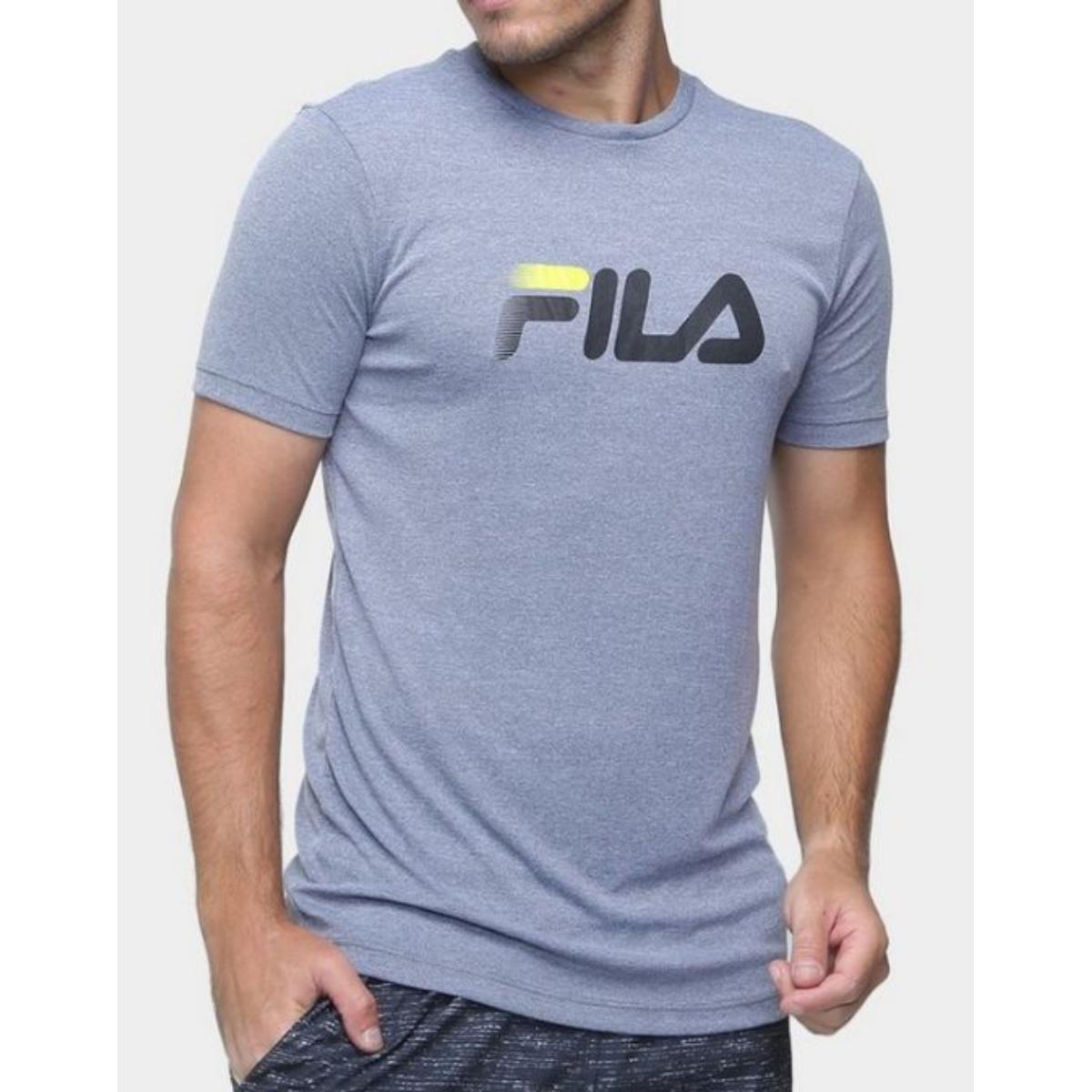 Camiseta Masculina Fila F11r518065.2350 Run go to Mars Cinza
