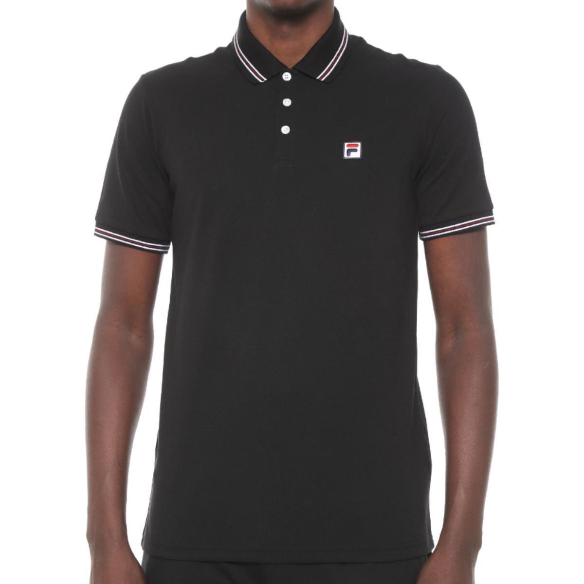 Camiseta Masculina Fila Ls360191.160  Premium Pima Preto