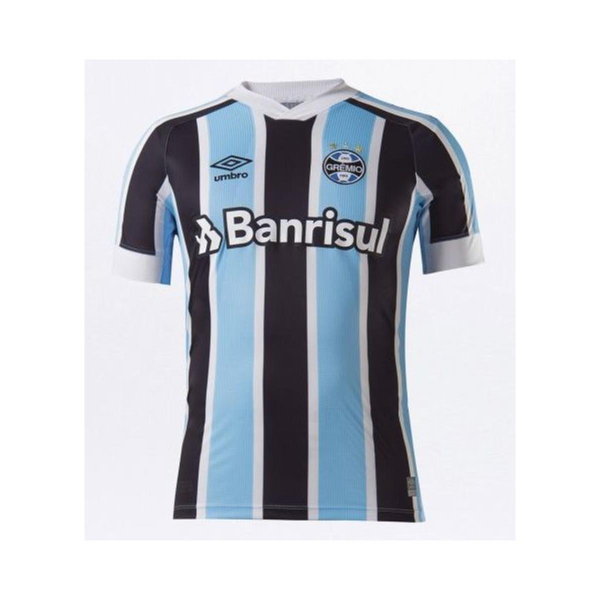 Camiseta Masculina Grêmio U31g023.312 Classic of 1 2021 S/n Celeste/preto/branco