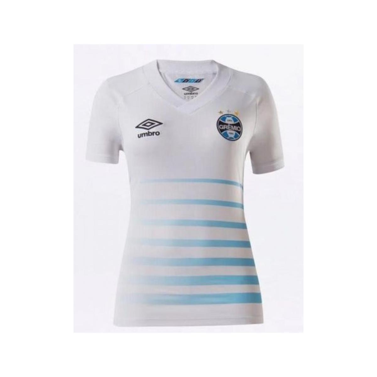 Camiseta Feminina Grêmio U32g034 Fem 0f 2 2021 Branco/azul