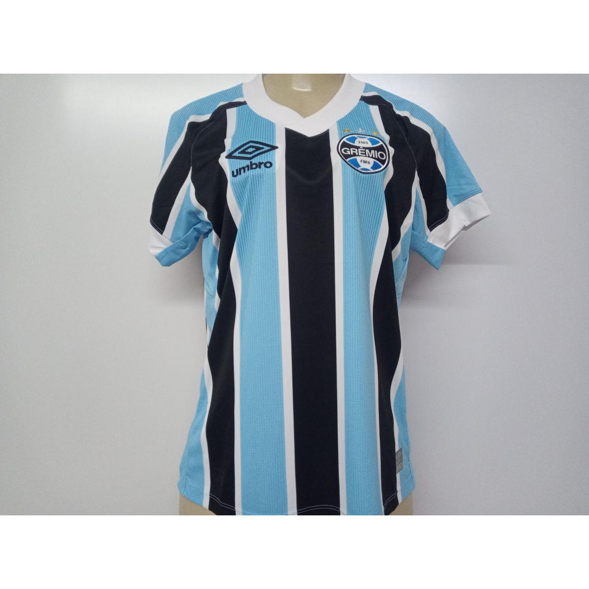 Camiseta Feminina Grêmio U32g026.312 Fem 0f 1 2021 Celeste/preto/branco