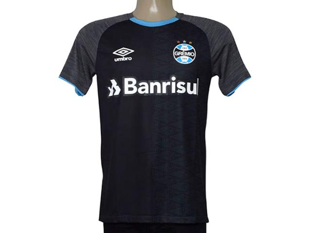 Camiseta Masculina Grêmio 3g160350 Aquecimento 2018 Grafite/preto/celeste