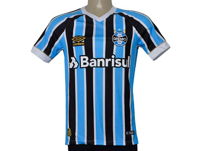 Camiseta Masculina Grêmio 3g160337 Of.1 2018 Fan Tricolor
