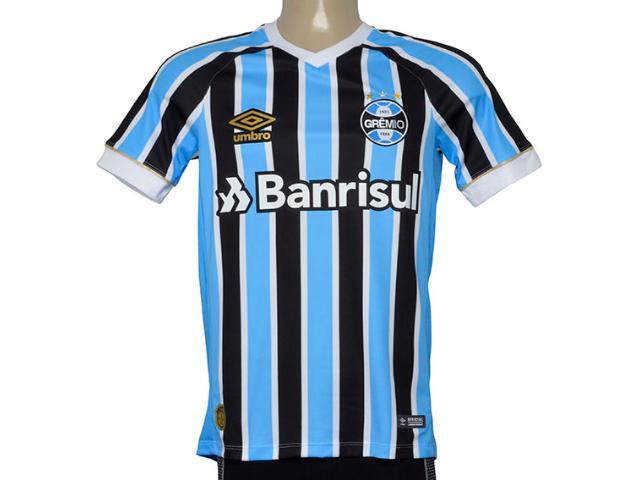 Camiseta Masculina Grêmio 3g160652 Of. 1 2018 Fan S/n Tricolor
