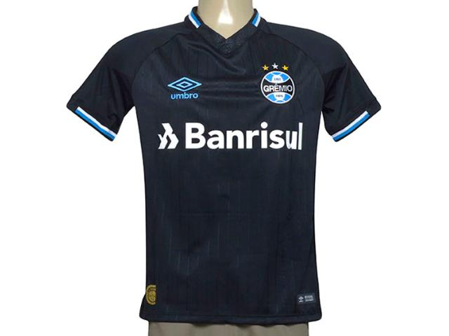Camiseta Masculina Grêmio 3g160678 Oficial 3 Torcedor n 10 2018 Preto/branco/azul
