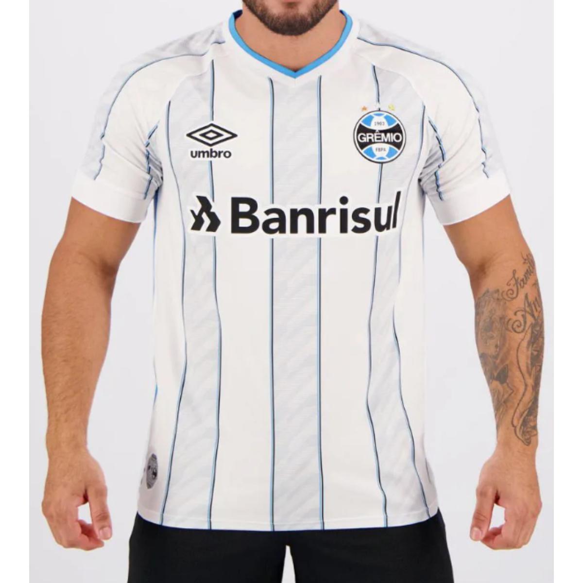Camiseta Masculina Grêmio 3g161207 Of.2 2020 Classic C/n 11 Branco/azul/preto