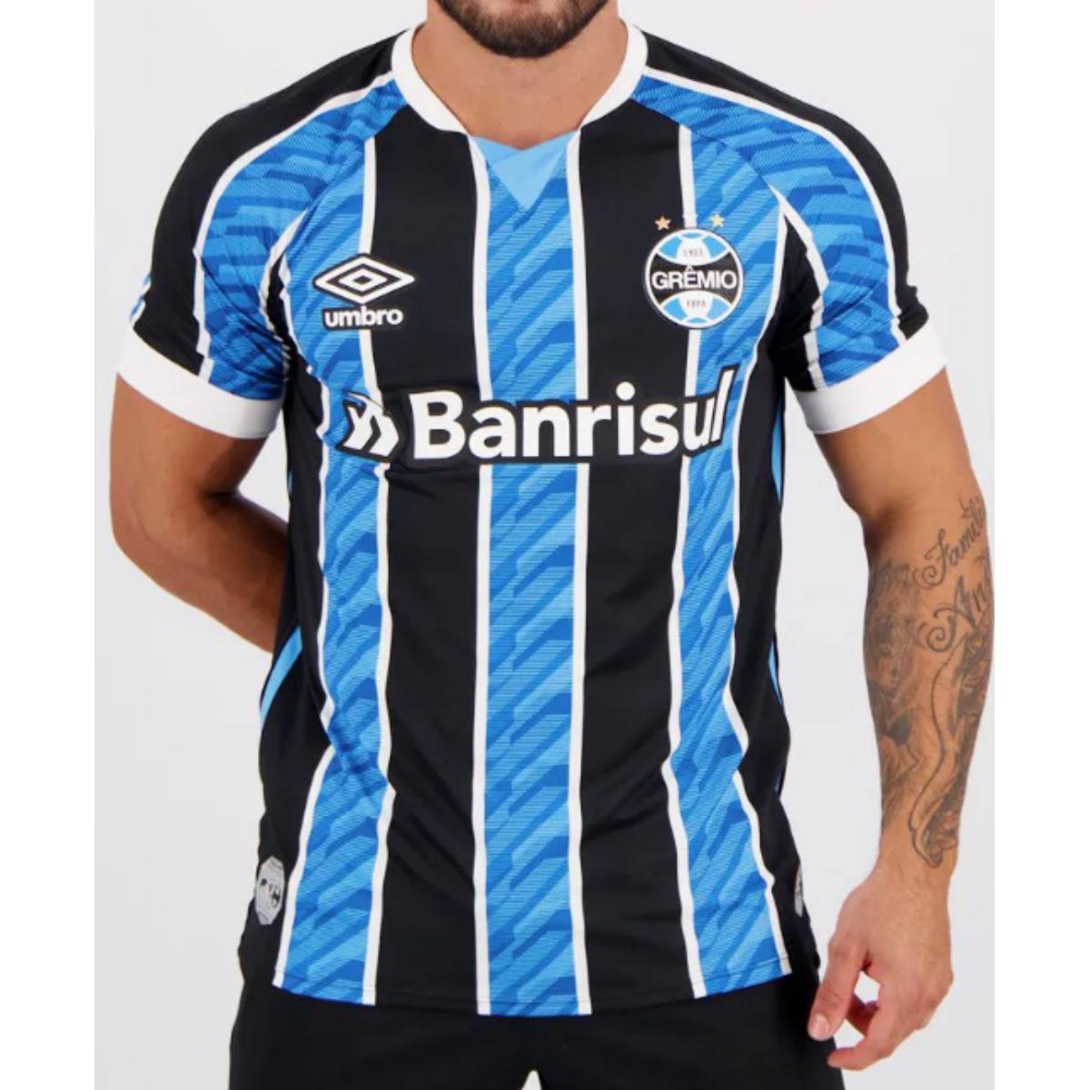 Camiseta Masculina Grêmio 3g161165 of i 2020 Classic c/ N10 Tricolor