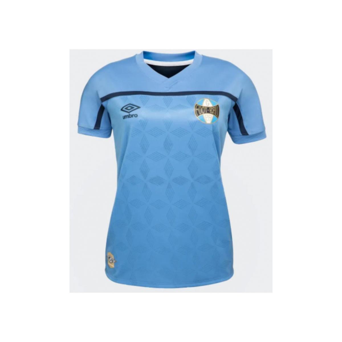 Camiseta Feminina Grêmio U32g514090 Of.3 2020 Torcedor Azul/marinho