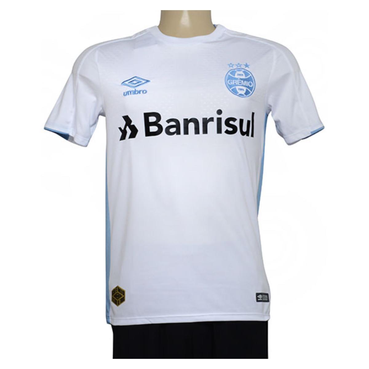 Camiseta Masculina 3g160773 Grêmio Of.2 2019 Classic Branco/azul