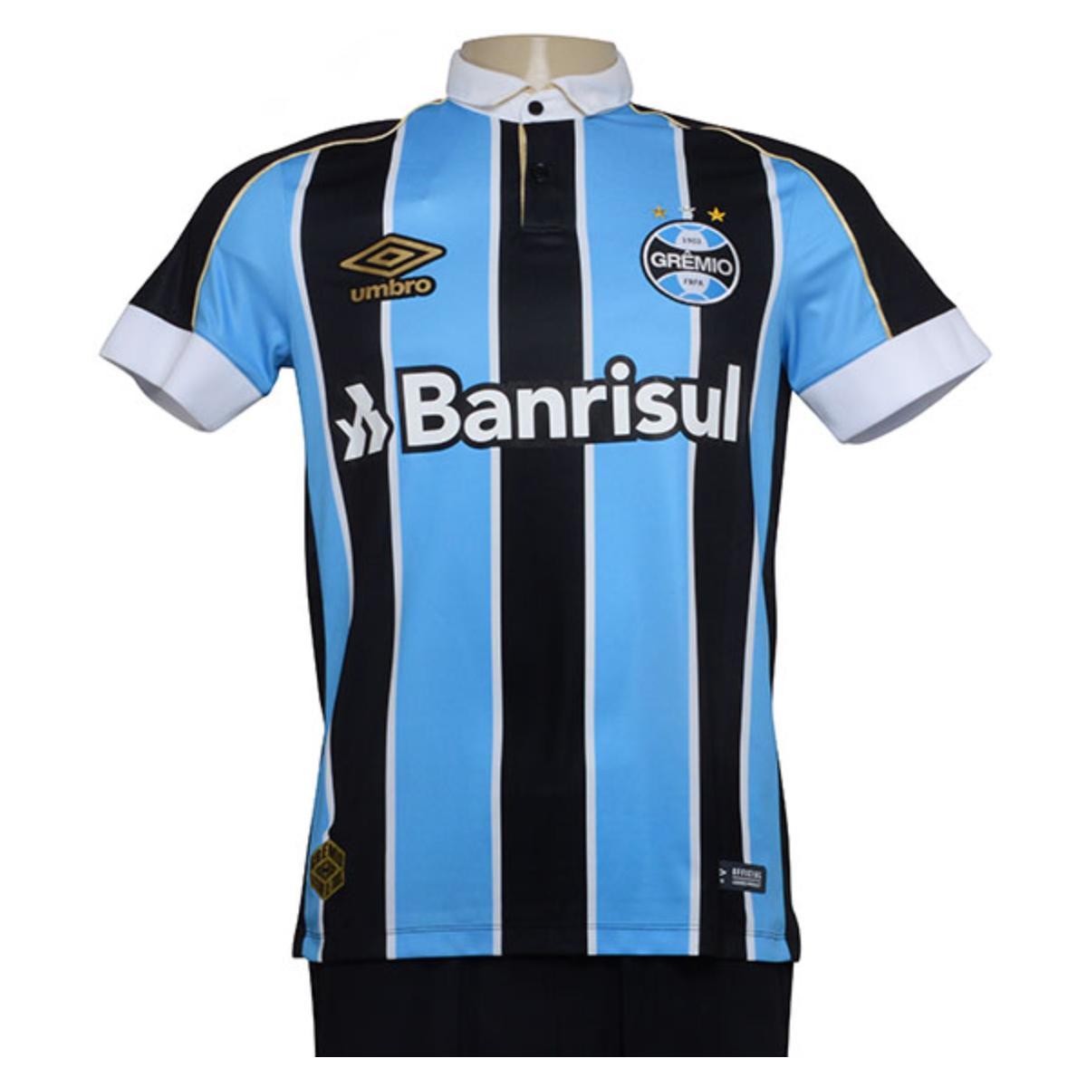 Camiseta Masculina 3g160779 Grêmio Of.1 2019 Classic Tricolor