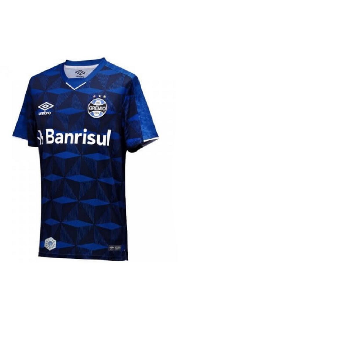 Camiseta Masculina Grêmio 3g160988 of 3 2019 Classic Marinho/branco