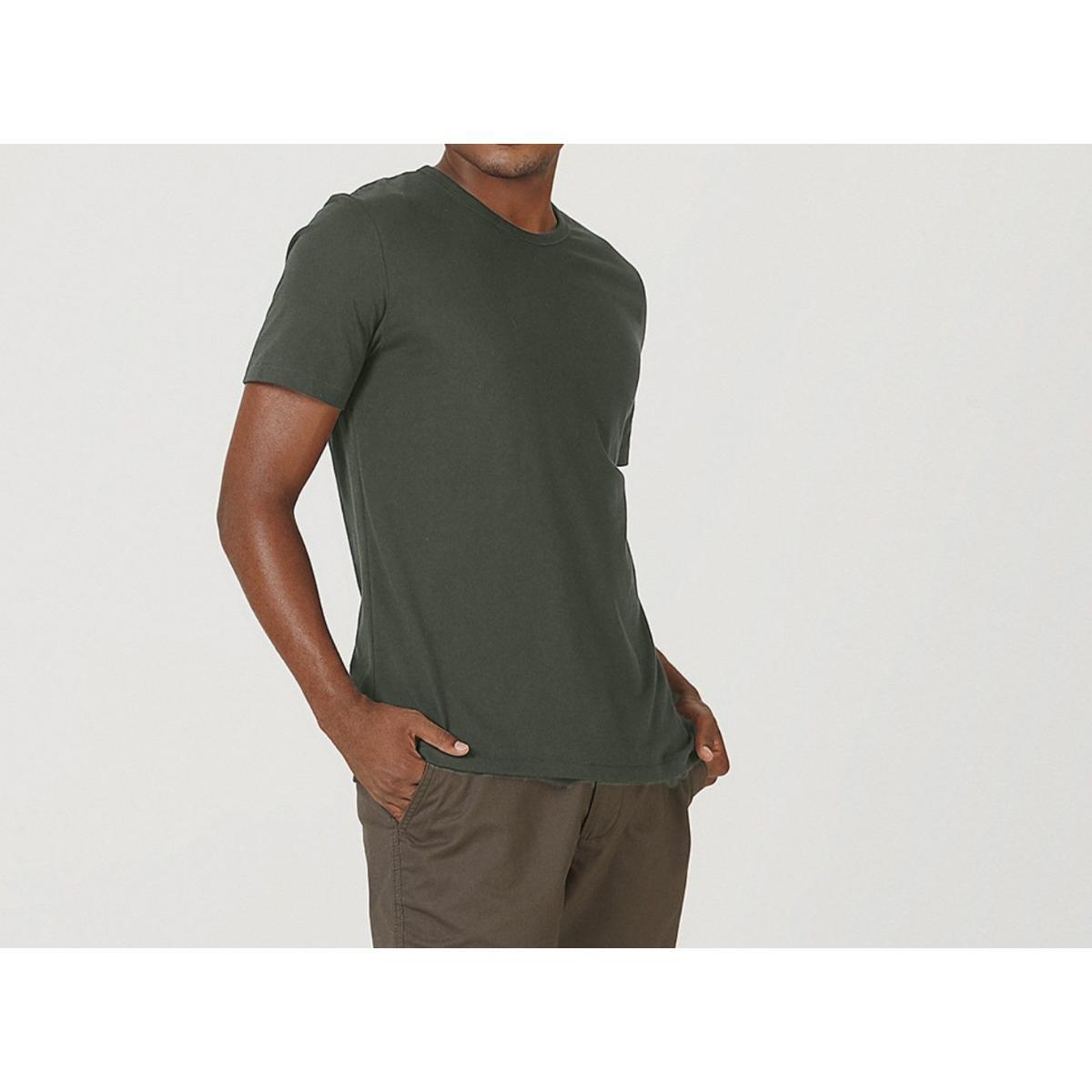 Camiseta Masculina Hering 0299 Naten Musgo