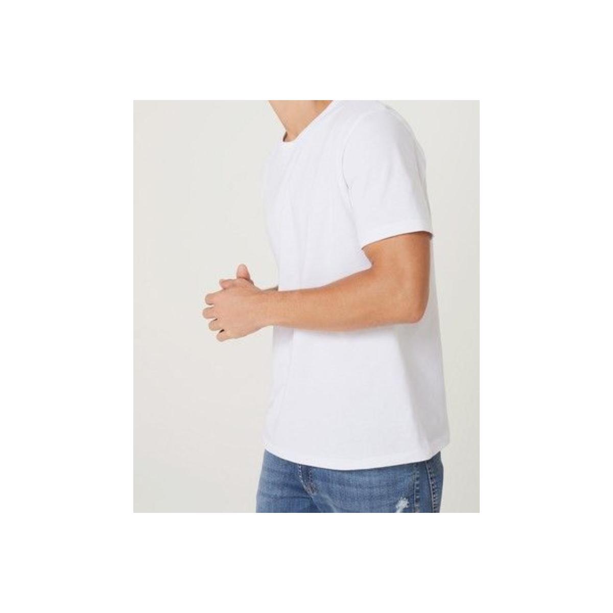 Camiseta Masculina Hering 0299 N0a00s Branco