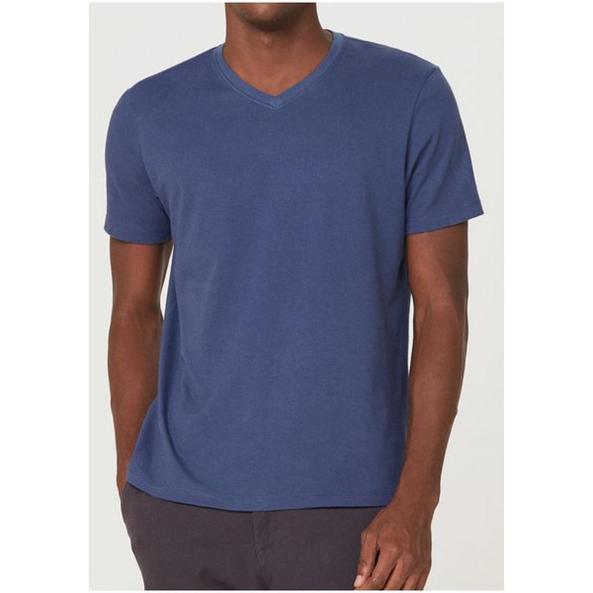 Camiseta Masculina Hering 022b Az2en Azul Escuro
