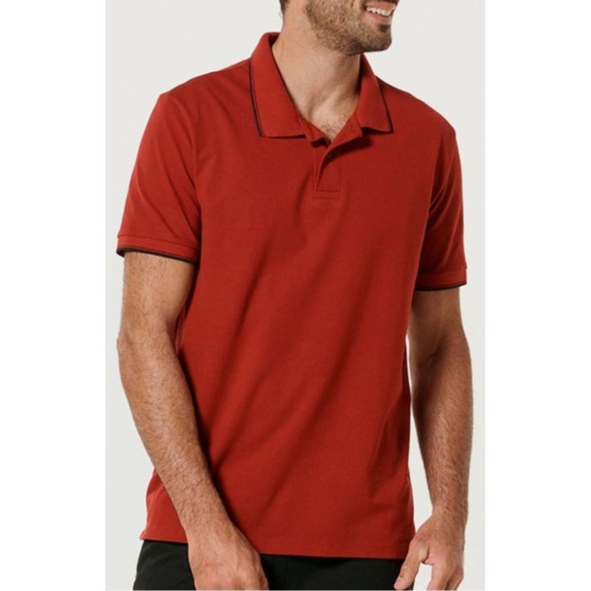 Camiseta Masculina Hering 3m11 Rwwen Vermelho