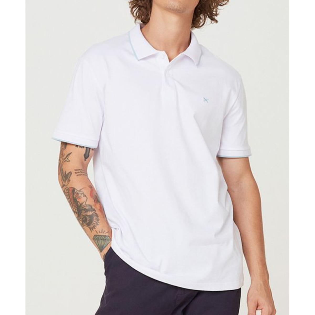 Camiseta Masculina Hering 3m4m 1aen Branco/azul