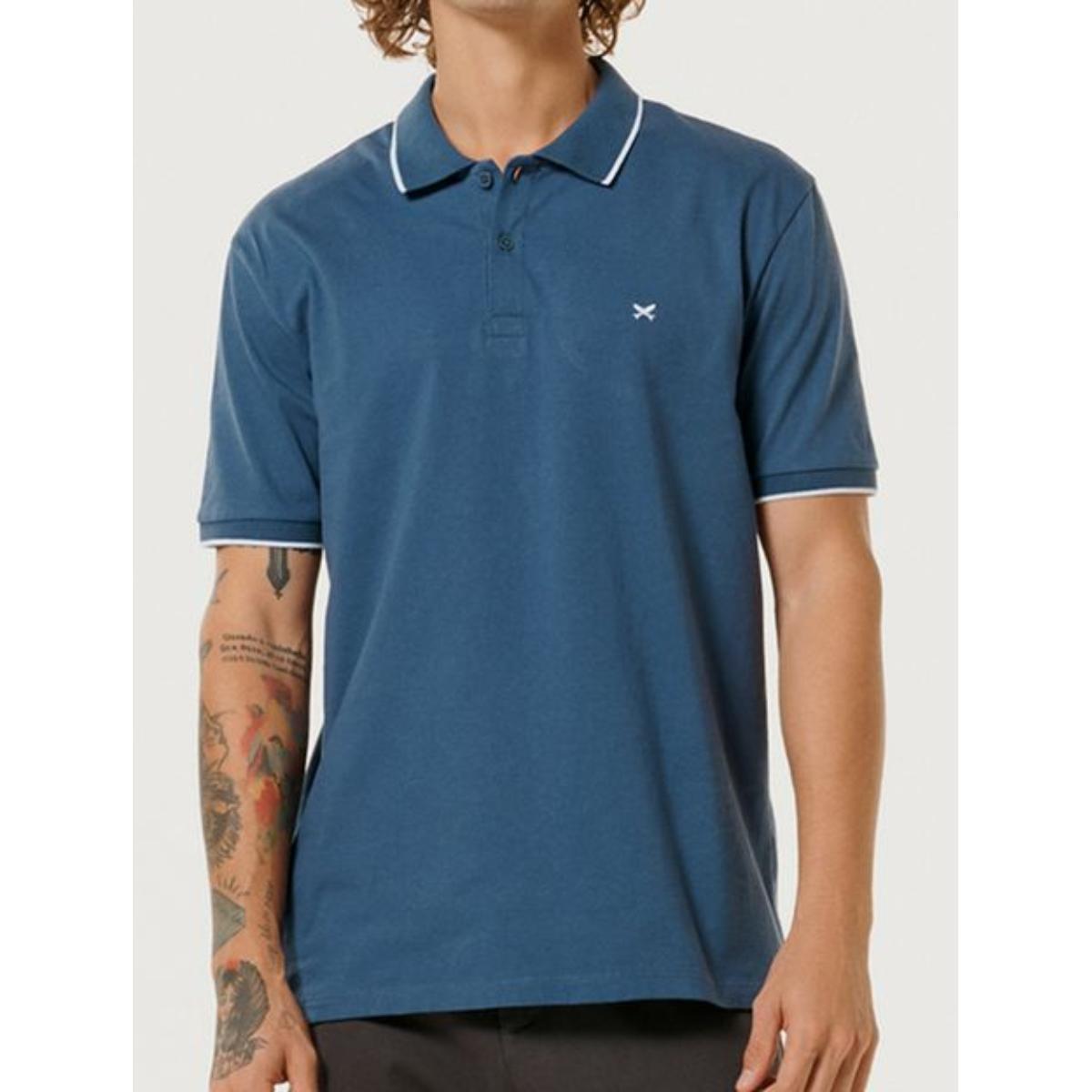 Camiseta Masculina Hering 3m4m Az2en Azul Escuro