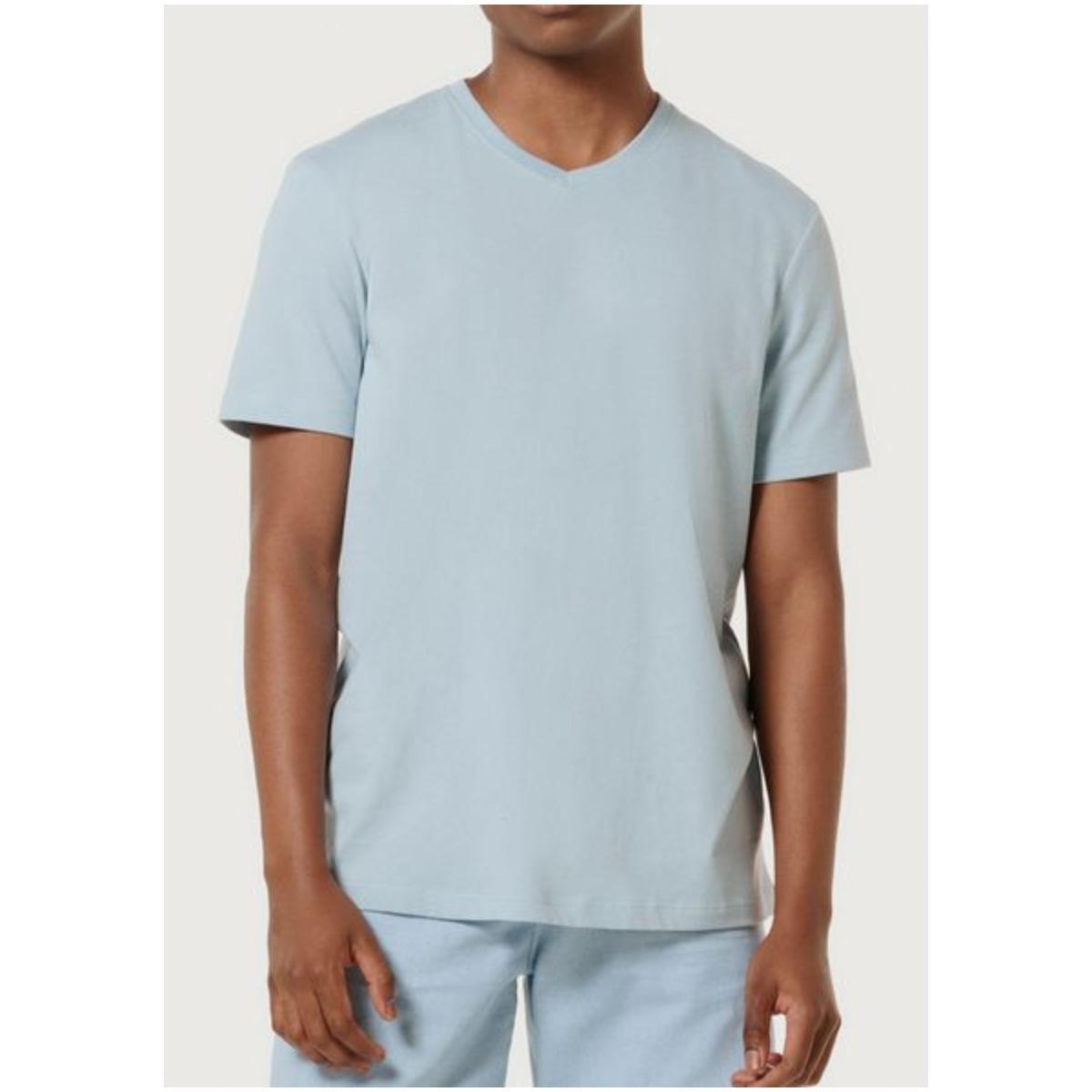 Camiseta Masculina Hering 022b Av7en Azul Bebê