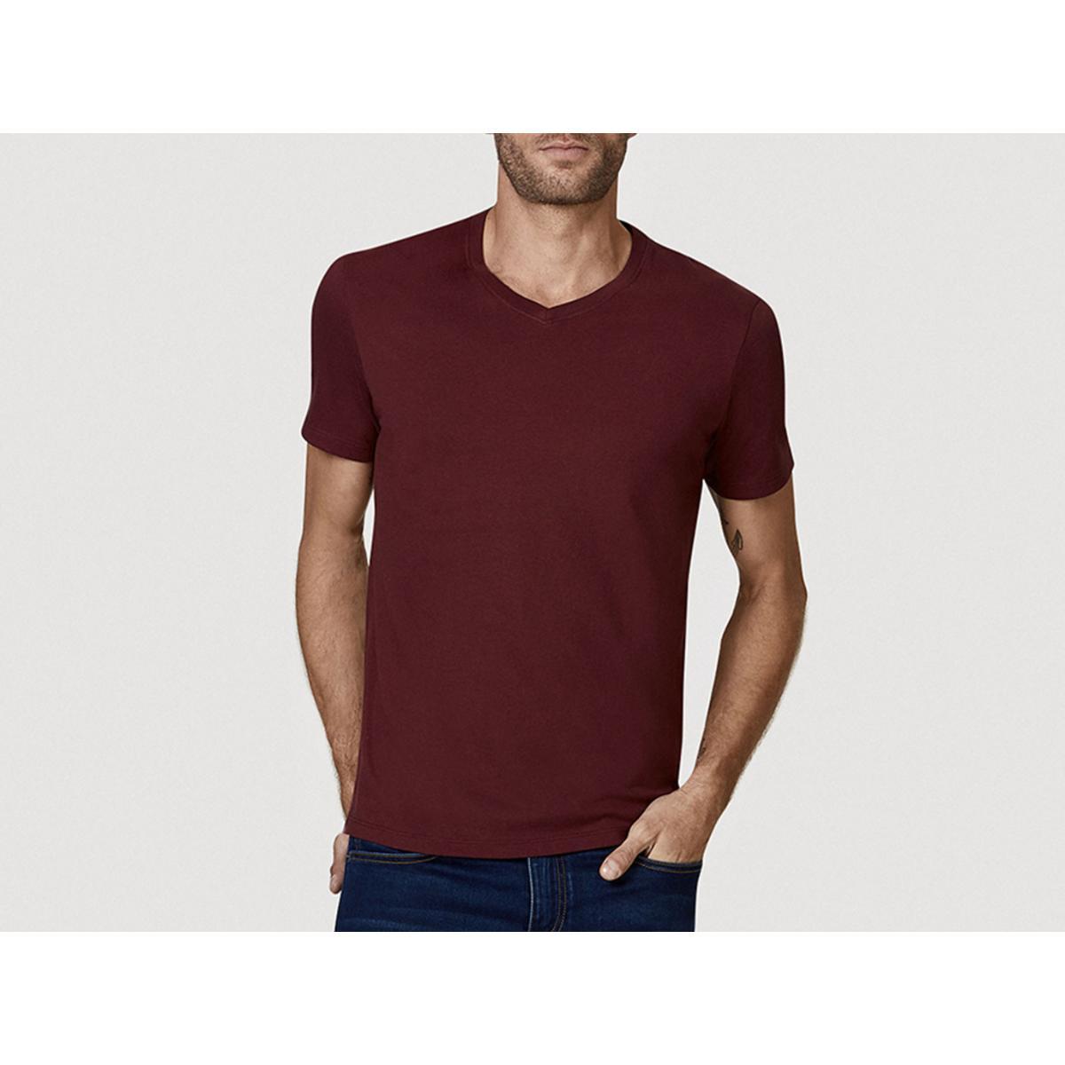 Camiseta Masculina Hering 022b Rwren Bordo