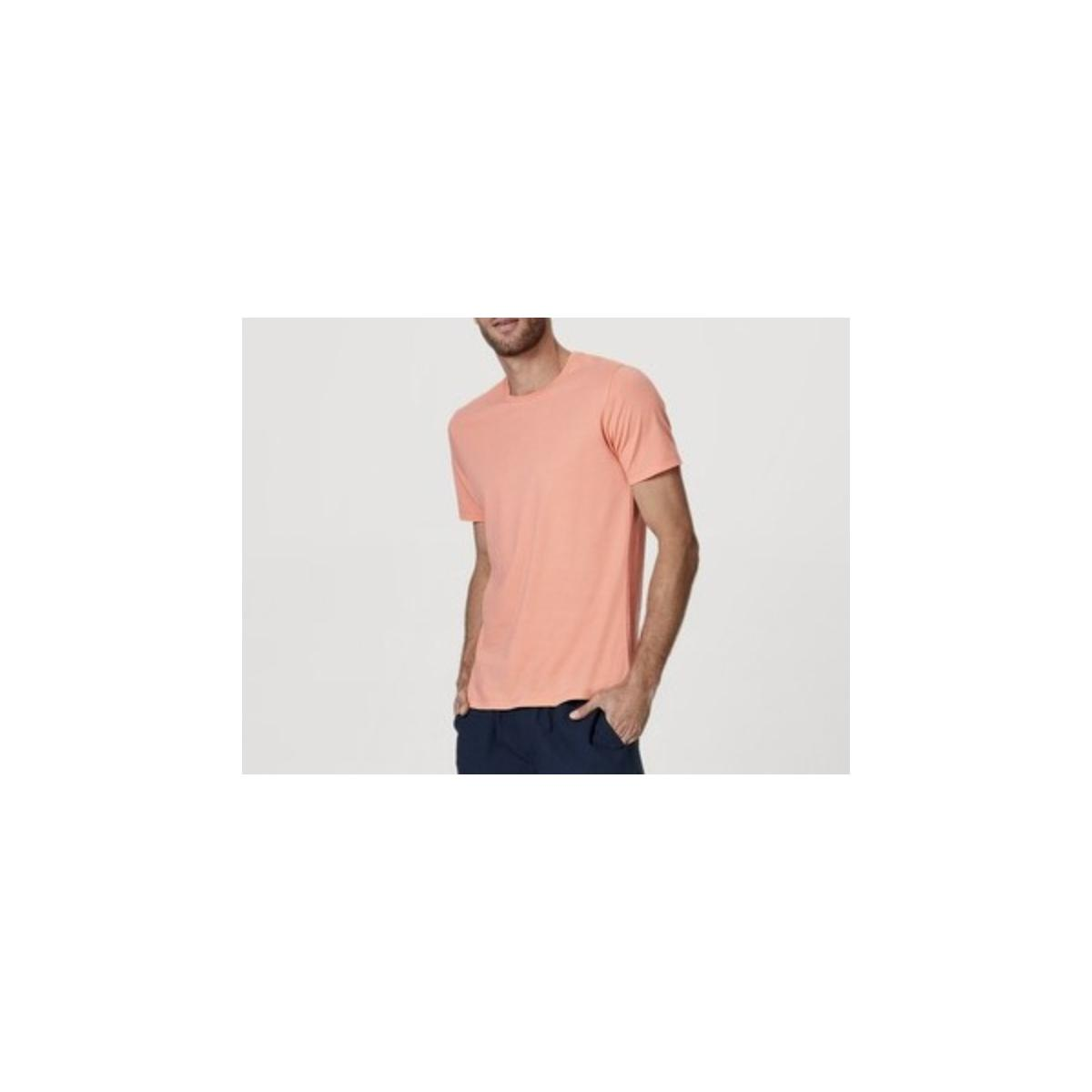 Camiseta Masculina Hering 0201 Llten Laranja