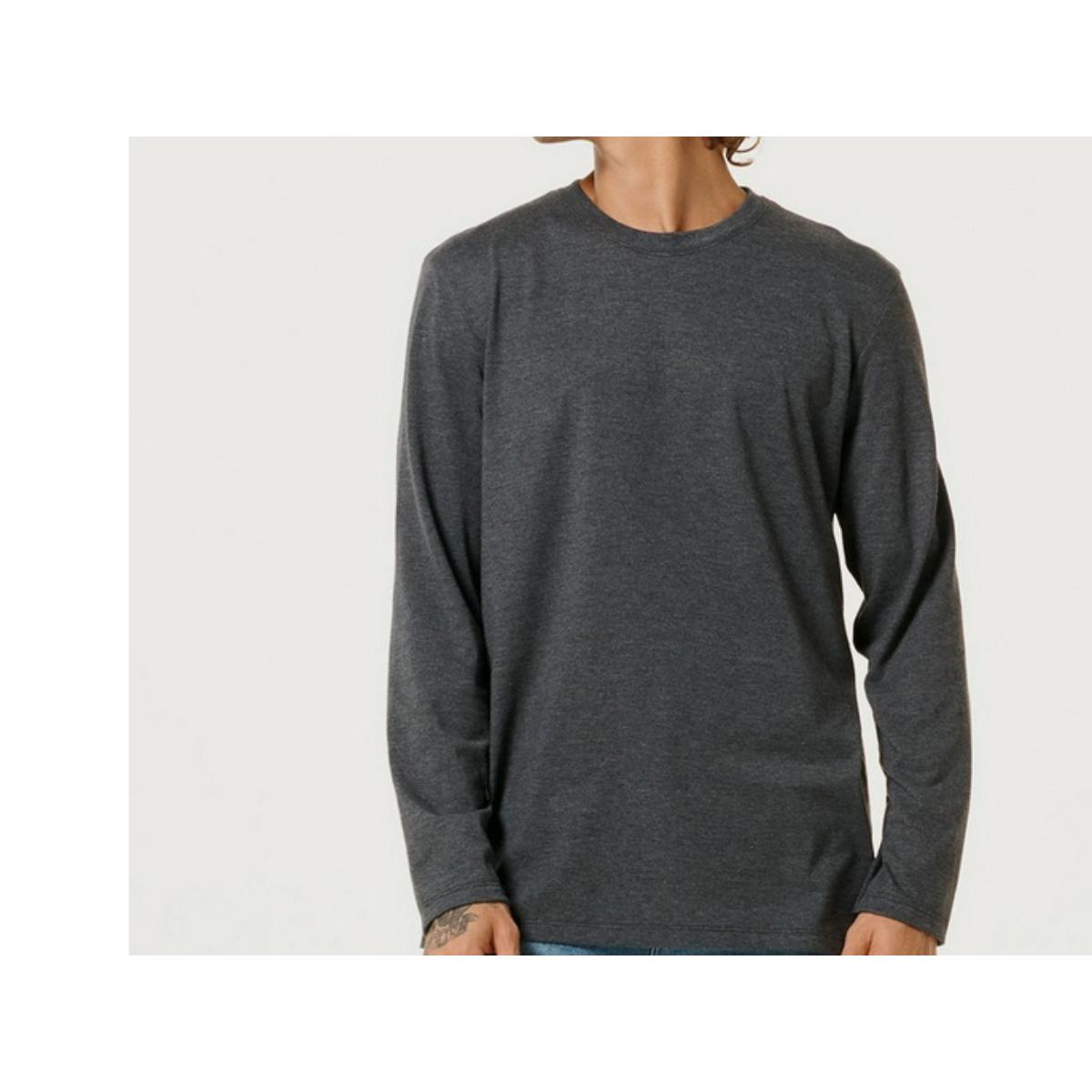 Camiseta Masculina Hering 026x Md307s Grafite
