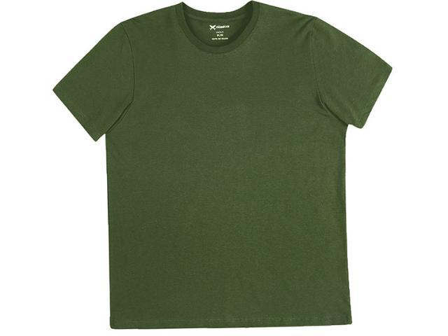 Camiseta Masculina Hering 0201 E76en Verde Escuro
