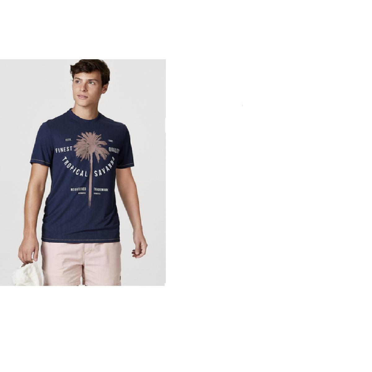 Camiseta Masculina Hering 4ekb Axten Marinho